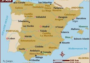 Map Of south West France and northern Spain Map Of Spain