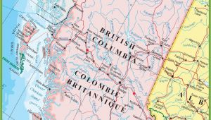 Map Of southern Bc Canada Large Detailed Map Of British Columbia with Cities and towns
