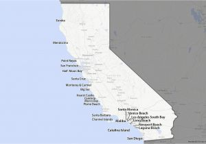 Map Of southern California Beach Cities Map Of the California Coast 1 100 Glorious Miles