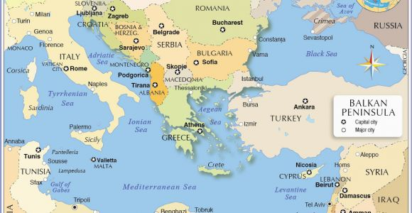 Map Of southern Europe and the Balkans Political Map Of the Balkan Peninsula Nations Online Project