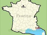 Map Of southern France and Monaco Monaco Location On the Map Of France