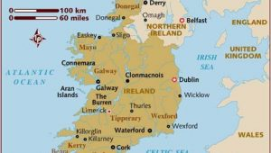 Map Of southern Ireland Cities Map Of Ireland