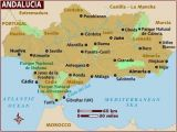 Map Of southern Spain Holiday Resorts Map Of andalucia