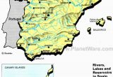 Map Of Spain Alicante area Rivers Lakes and Resevoirs In Spain Map 2013 General