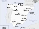 Map Of Spain and Balearics Spain Wikipedia