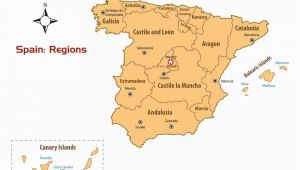 Map Of Spain and Canary islands Regions Of Spain Map and Guide