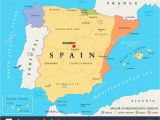 Map Of Spain and Canary islands Spain Map Stock Photos Spain Map Stock Images Alamy