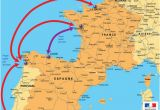 Map Of Spain and France Border Motorway Aires the French Wild West Bordeaux to the Spanish Border