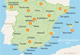 Map Of Spain and France with Cities Map Of Spain Spain Regions Rough Guides