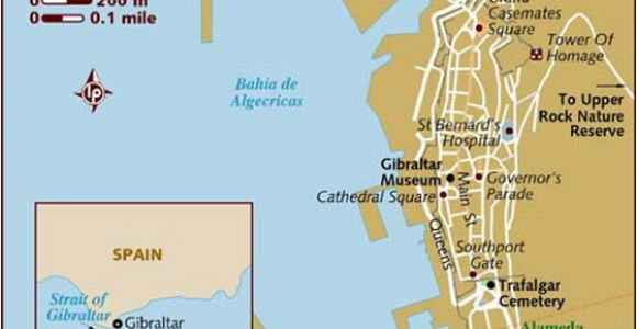 Map Of Spain and Gibraltar Large Gibraltar Maps for Free Download and Print High Resolution