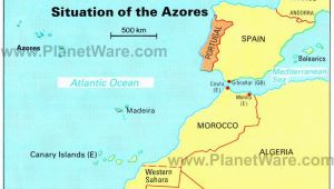 Map Of Spain and islands Azores islands Map Portugal Spain Morocco Western Sahara Madeira