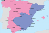 Map Of Spain Cities and Regions Spanish Civil War Wikipedia