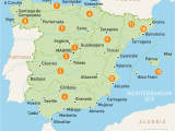 Map Of Spain Holiday Resorts Map Of Spain Spain Regions Rough Guides