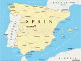 Map Of Spain Major Cities Fotografie Obraz Spain Political Map with the Capital Madrid