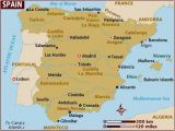 Map Of Spain Major Cities Map Of Spain