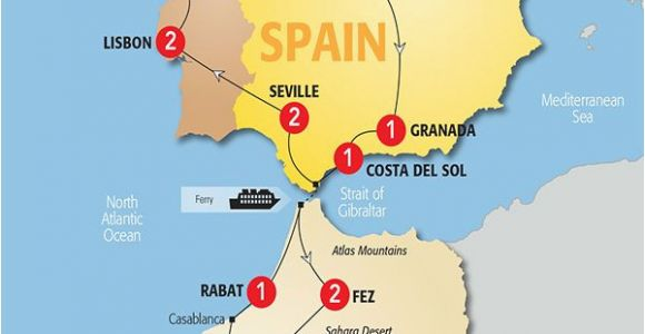 Map Of Spain Morocco Map Of Spain and Morocco so Helpful Map Of Spain
