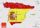 Map Of Spain Santander Flag Map Of Spain