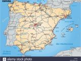Map Of Spain Showing Almeria Map Od Spain Stock Photos Map Od Spain Stock Images Alamy