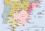 Map Of Spain Showing Almeria Spanish Coup Of July 1936 Wikipedia