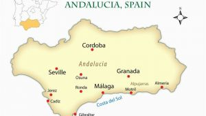 Map Of Spain Showing Cadiz andalusia Spain Cities Map and Guide