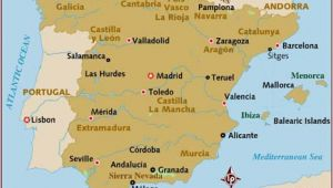 Map Of Spain Showing Costa Brava Map Of Spain