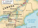 Map Of St Lawrence River Canada Hudson Erie Canal St Lawrence Seaway New York to Montreal