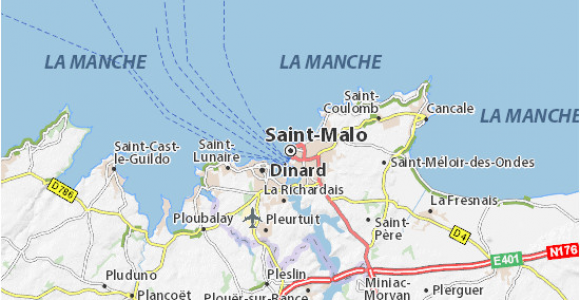 Map Of St Malo France Saint Malo Map Detailed Maps for the City Of Saint Malo Viamichelin