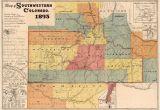 Map Of Sw Colorado Map Of Colorado southwestern Colorado Map Fine Print Vintage