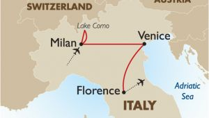 Map Of Switzerland and Italy together Classic northern Italy European tour Packages Goway Travel
