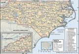 Map Of Tennessee and north Carolina State and County Maps Of north Carolina