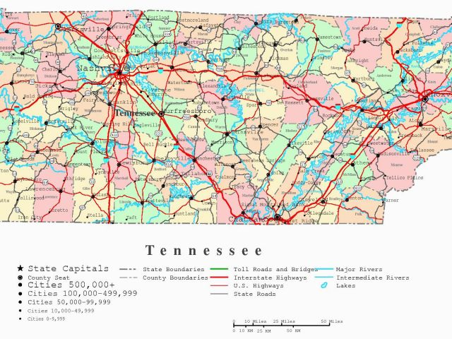 Map Of Tennessee Cities and Counties County Map Tenn and Travel