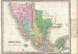 Map Of Texas Border with Mexico File 1827 Finley Map Of Mexico Upper California and Texas