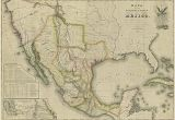 Map Of Texas Border with Mexico Mapa De Los Estados Unidos De Mejico 1828 Historic Maps