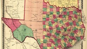 Map Of Texas by Counties Texas Counties Map Published 1874 Maps Texas County Map Texas