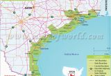 Map Of Texas Coastline Texas Coast Map