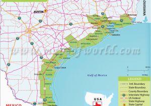 Map Of Texas Coastline Texas Coast Map