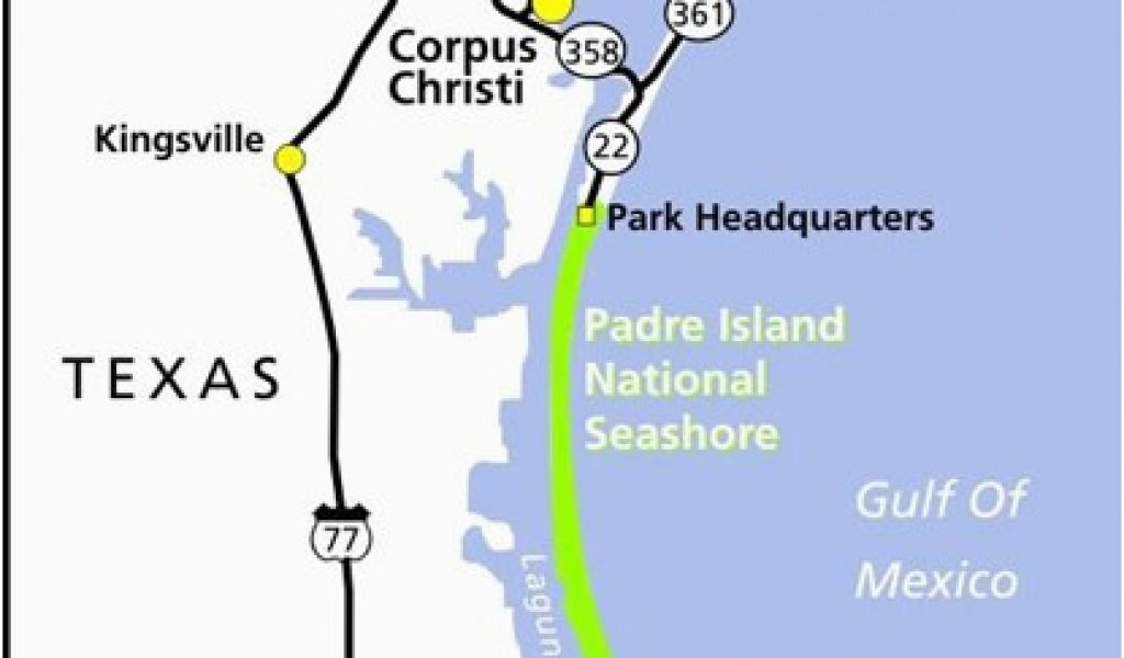 Map Of Texas Islands.Map Of Texas Gulf Coast Region Maps Padre Island National Seashore