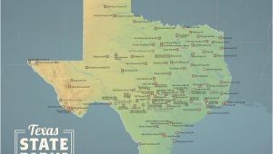 Map Of Texas National Parks Texas State Parks Map 11×14 Print Best Maps Ever