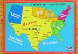 Map Of Texas Plano A Texan S Map Of the United States Featuring the Oasis Restaurant