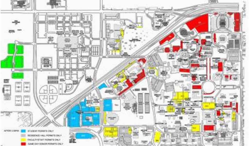 Map Of Texas Tech University Thursday Game Brings Parking ...