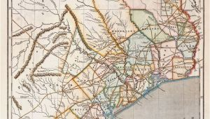 Map Of the Colony Texas Republic Of Texas by Sidney E Morse 1844 This is A Cerographic