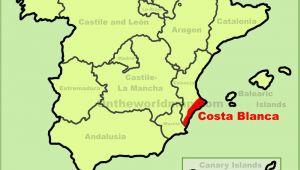 Map Of the Costa Blanca Spain Costa Blanca Maps Spain Maps Of Costa Blanca