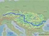 Map Of the Danube River In Europe River Danube Map Map Of West