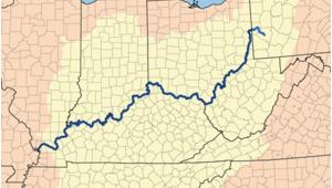 Map Of the Ohio Valley Ohio River Revolvy