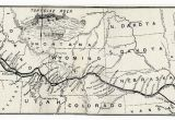 Map Of the oregon Trail with Landmarks Map Of the oregon Trail by Ezra Meeker the Hop King Of the World