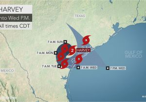 Map Of the Texas Panhandle torrential Rain to Evolve Into Flooding Disaster as Major Hurricane