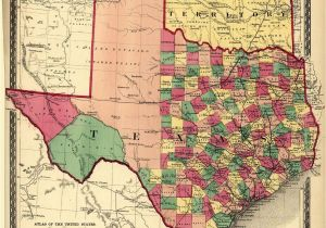 Map Of the Texas Revolution Texas Counties Map Published 1874 Maps Texas County Map Texas