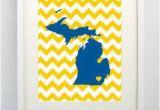 Map Of the University Of Michigan Ann Arbor Michigan State Giclee Map Art Print 8×10 University