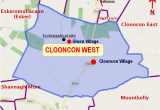 Map Of the West Of Ireland Clooncon West