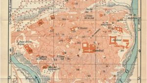 Map Of toledo Spain 1958 toledo Spain Vintage Map Antique City Maps Map toledo
